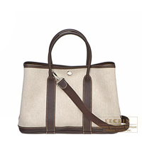 Hermes Garden Party bag TPM Cocaon Cotton canvas Silver hardware