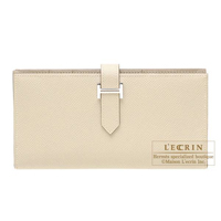 Hermes Bearn Soufflet Parchemin Epsom leather Silver hardware