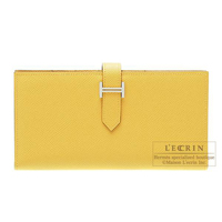 Hermes Bearn Soufflet Soleil Epsom leather Silver hardware