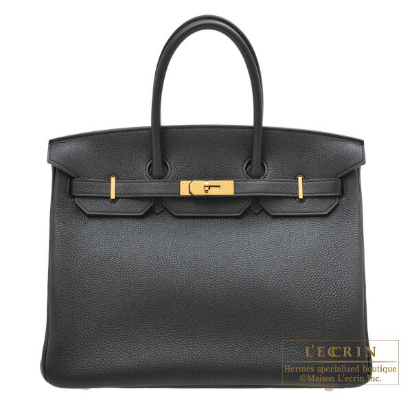 Hermes Birkin bag 35 Black Togo leather Gold hardware