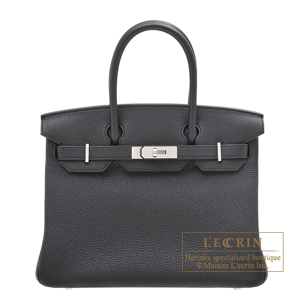 Hermes Birkin bag 30 Black Togo leather Silver hardware