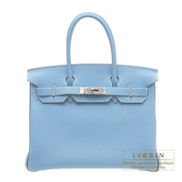 Hermes Personal Birkin bag 30 Blue Jean/Blue indigo Togo leather Ruthenium hardware