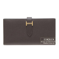 Hermes Bearn Soufflet Chocolat Epsom leather Gold hardware