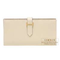 Hermes Bearn Soufflet Parchemin Epsom leather Gold hardware