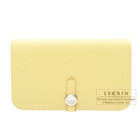 Hermes Dogon GM Jaune poussin Togo leather Silver hardware