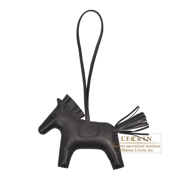 Hermes Rodeo charm MM Black Agneau