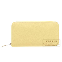 Hermes Azap long Jaune poussin Togo leather Silver hardware