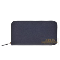 Hermes Azap long Blue indigo Epsom leather Silver hardware