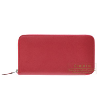 Hermes Azap long Ruby Epsom leather Silver hardware
