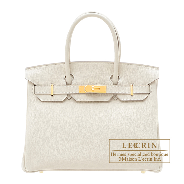 Hermes Birkin bag 30 Craie Togo leather Gold hardware