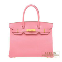 Hermes Personal Birkin bag 30 Rose confetti Epsom leather Matt gold hardware