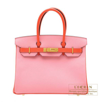 Hermes Personal Birkin bag 30 Rose confetti/ Rose jaipur Epsom leather Gold hardware