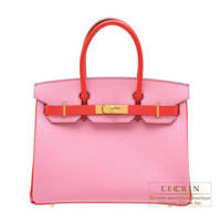 Hermes Personal Birkin bag 30 Pink/ Bougainvillier Epsom leather Gold hardware
