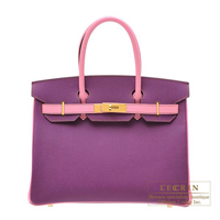Hermes Personal Birkin bag 30 Anemone/Pink Epsom leather Gold hardware