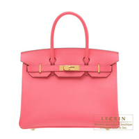Hermes Personal Birkin bag 30 Rose azalee Epsom leather Gold hardware