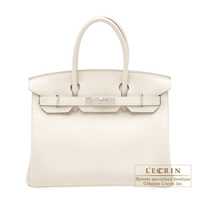 Hermes Personal Birkin bag 30 Craie Togo leather Silver hardware