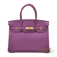 Hermes Personal Birkin bag 30 Anemone Togo leather Matt gold hardware