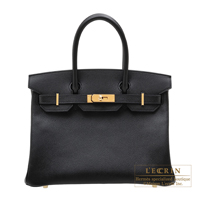 Hermes Personal Birkin bag 30 Black Epsom leather Gold hardware