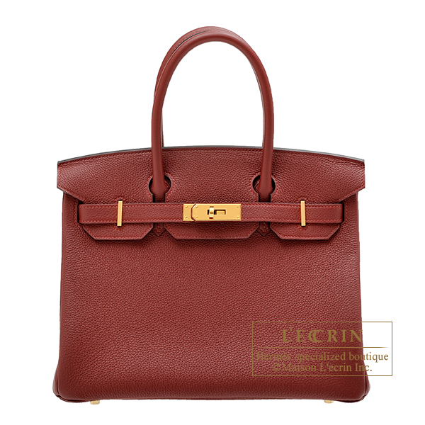 Hermes Birkin bag 30 Rouge H Togo leather Gold hardware