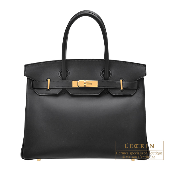Hermes Birkin bag 30 Black Jonathan leather Gold hardware