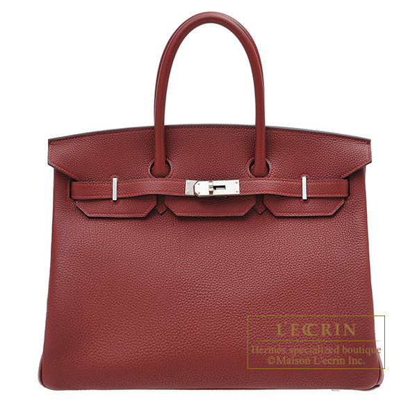 Hermes Birkin bag 35 Rouge H Togo leather Silver hardware