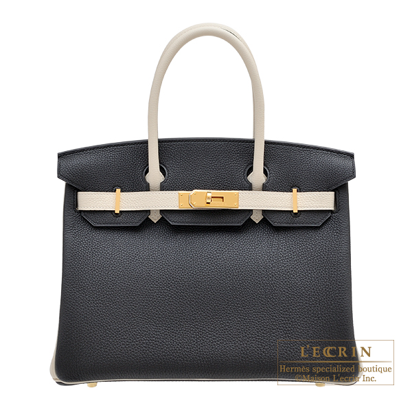 Hermes Personal Birkin bag 30 Black/Craie Togo leather Gold hardware