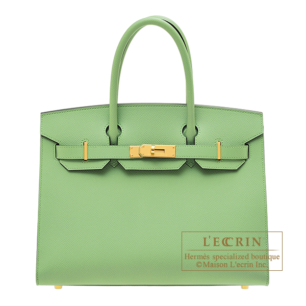 Hermes Birkin Sellier bag 30 Vert criquet Epsom leather Gold hardware