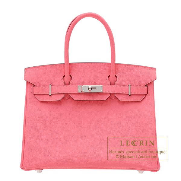 Hermes Birkin bag 30 Rose azalee Epsom leather Silver hardware