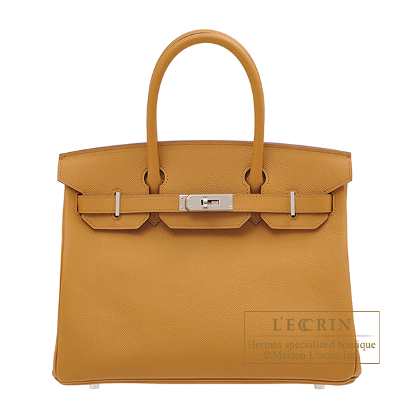 Hermes Birkin bag 30 Sesame Epsom leather Silver hardware