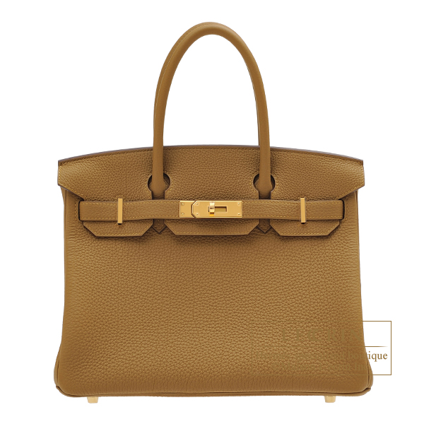 Hermes Birkin bag 30 Bronze dore Togo leather Gold hardware
