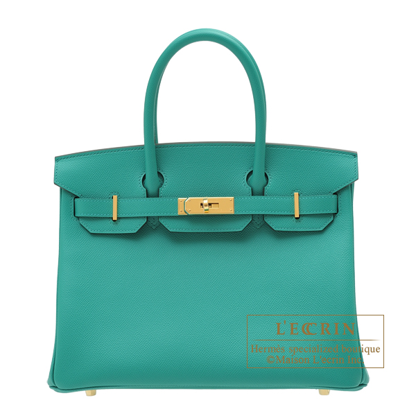 Hermes Birkin bag 30 Vert verone Epsom leather Gold hardware