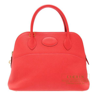 Hermes Bolide bag 31 Bougainvilleir Clemence leather Gold hardware