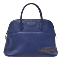 Hermes Bolide bag 35 Blue saphir Clemence leather Gold hardware