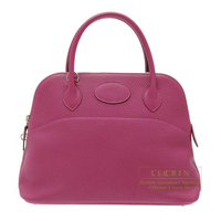 Hermes Bolide bag 31 Tosca Clemence leather Silver hardware