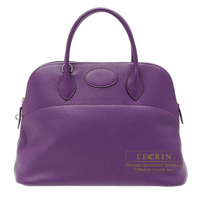 Hermes Bolide bag 35 Ultraviolet Clemence leather Silver hardware