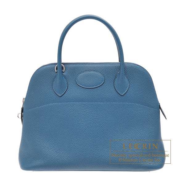Hermes Bolide bag 31 Colvert Clemence leather Silver hardware
