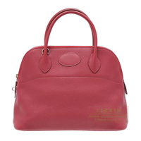 Hermes Bolide bag 31 Ruby Clemence leather Silver hardware