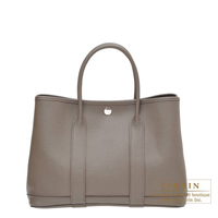 Hermes Garden Party bag TPM Etain Epsom leather Silver hardware