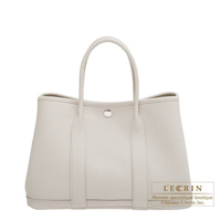 Hermes Garden Party bag TPM Beton Country leather Silver hardware