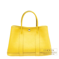 Hermes Garden Party bag TPM Soleil Buffalo sindhu leather Silver hardware