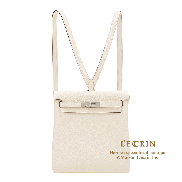 Hermes Kelly Ado PM Nata Clemence leather Silver hardware