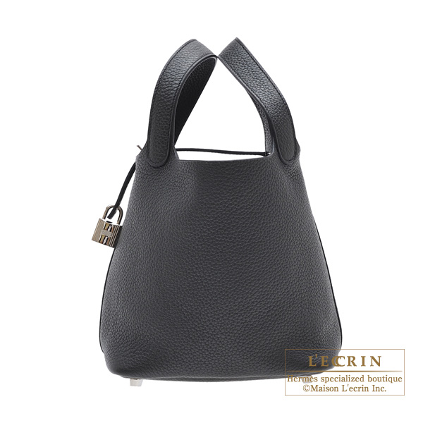 Hermes Picotin Lock bag PM Plomb Clemence leather Silver hardware