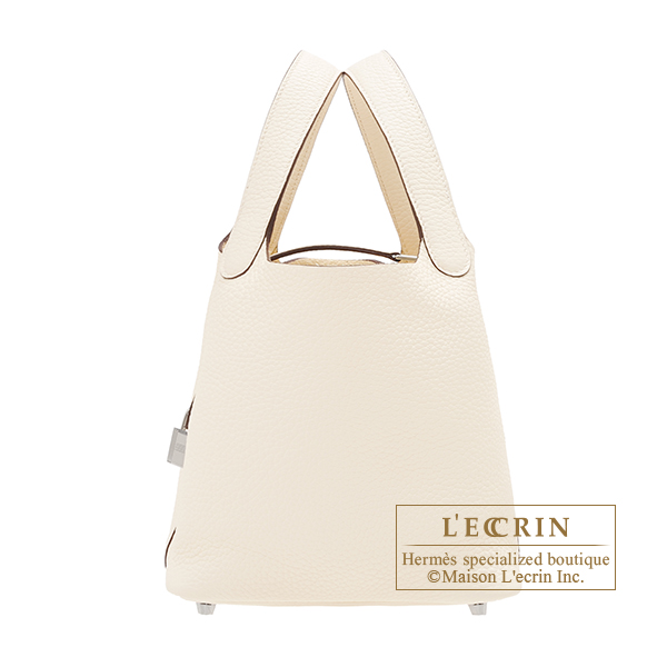 Hermes Picotin Lock bag PM Nata Clemence leather Silver hardware